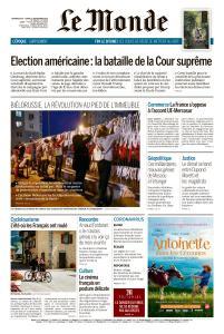 Le Monde du Dimanche 20 et Lundi 21 Septembre 2020