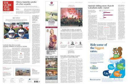 The Globe and Mail – September 19, 2018