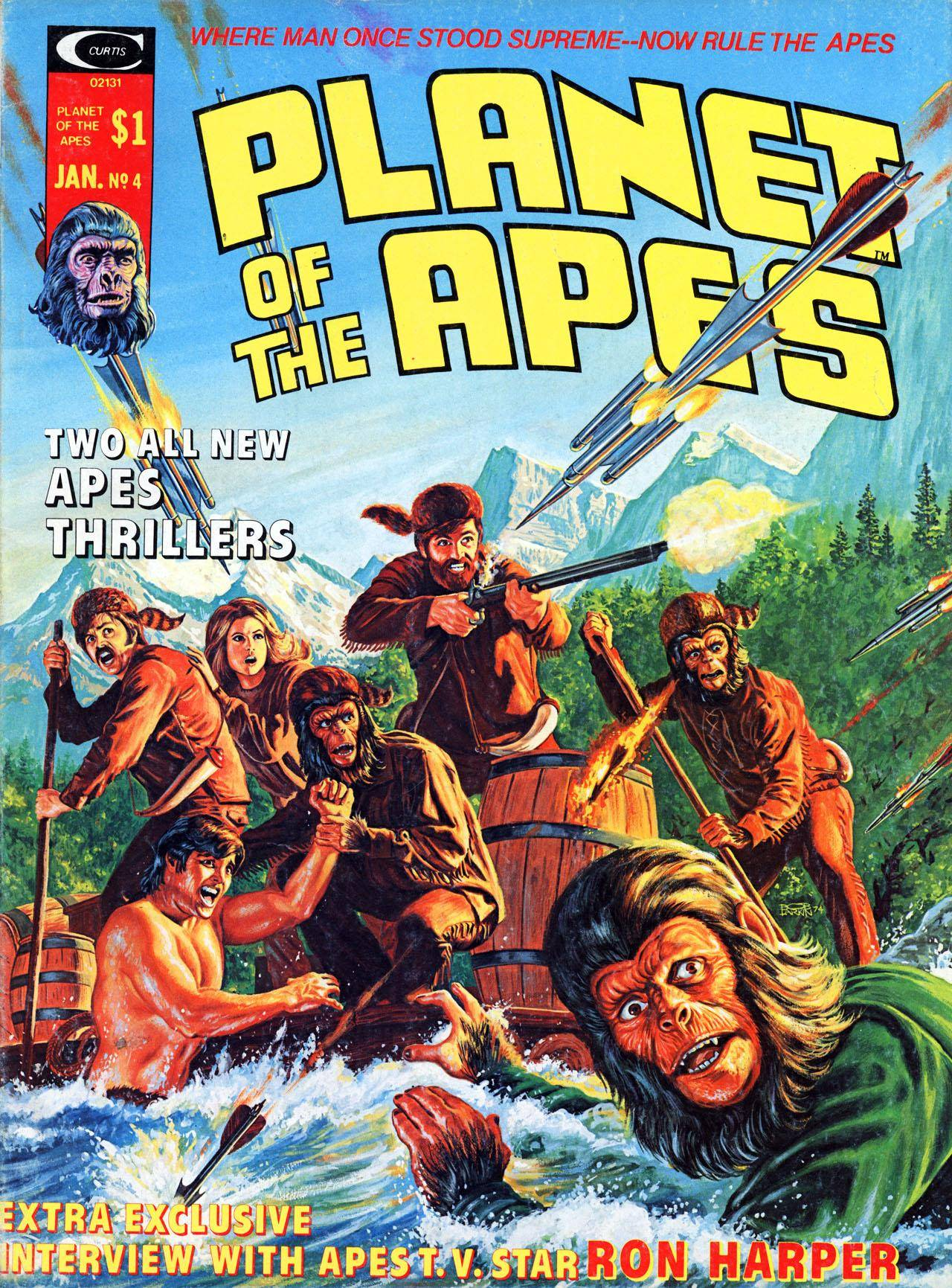 Planet of the Apes Magazine 004 (1975) (c2c) (Mal32 & Gambit)