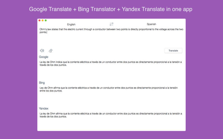 Combo Translator - All Major Translators In One App 1.0