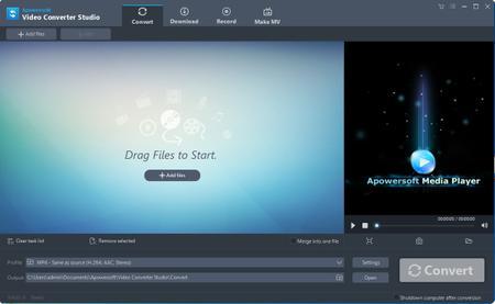 Apowersoft Video Converter Studio 4.5.5 (Build 13/01/2017) Multilingual