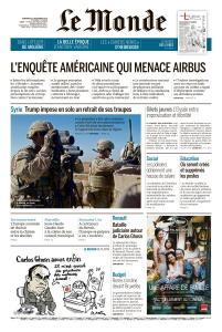 Le Monde du Vendredi 21 Décembre 2018