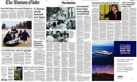 The Boston Globe – August 29, 2017