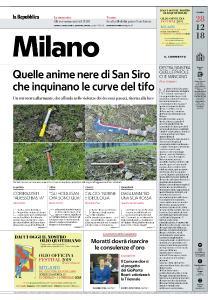 la Repubblica Milano - 28 Dicembre 2018