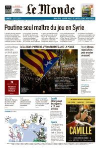 Le Monde du Jeudi 17 Octobre 2019