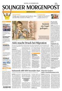 Solinger Morgenpost – 10. Dezember 2018