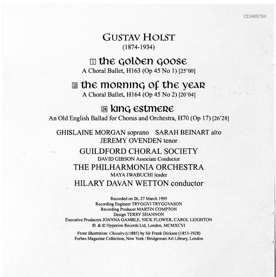 Guildford Choral Society, Hilary Davan Wetton - Holst: The