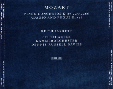 Keith Jarrett - W.A. Mozart: Piano Concertos K.271, 453, 466. K.546 (1999) [2CD] {ECM New Series 1624/25} [Repost]