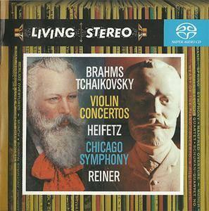 Brahms / Tchaikovsky - Jascha Heifetz / CSO / Fritz Reiner - Violin Concertos (2004) {Hybrid-SACD // ISO & FLAC}