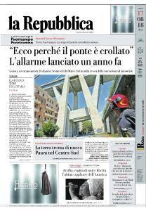 la Repubblica - 17 Agosto 2018