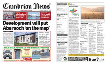 Cambrian News Arfon & Dwyfor – 08 October 2021