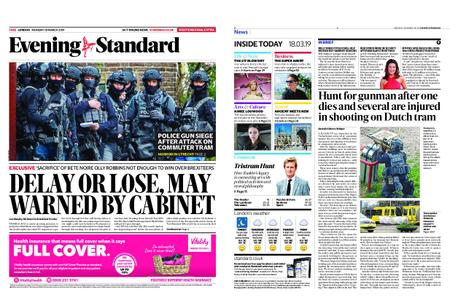 London Evening Standard – March 18, 2019