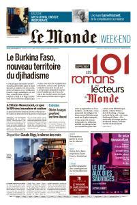 Le Monde du Samedi 28 Décembre 2019
