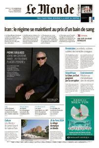Le Monde du Dimanche 24 et Lundi 25 Novembre 2019