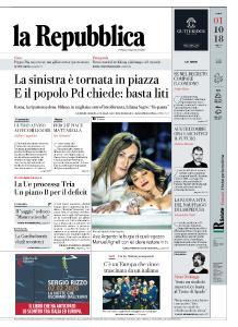 la Repubblica - 1 Ottobre 2018