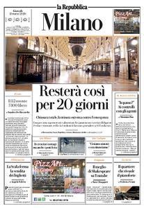 la Repubblica Milano - 12 Marzo 2020