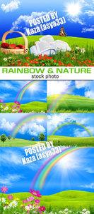 Rainbow & green nature