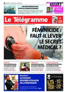 Le Télégramme Brest Abers Iroise – 26 novembre 2019