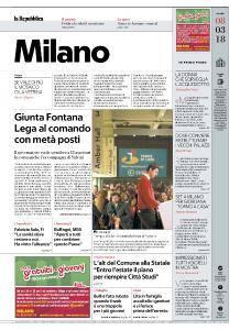 la Repubblica Milano - 8 Marzo 2018