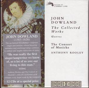 John Dowland - The Collected Works - The Consort of Musicke, Anthony Rooley (1997) {Decca--L'Oiseau-Lyre 12CDs}