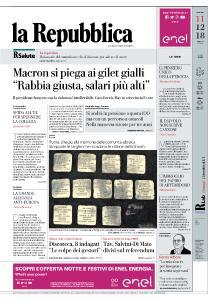 la Repubblica - 11 Dicembre 2018