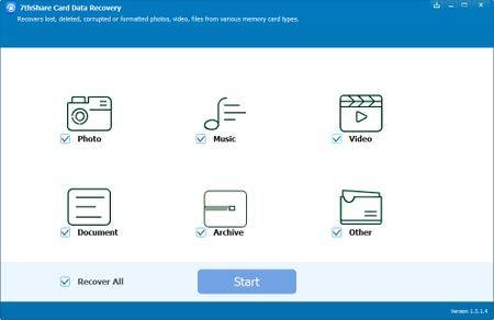 7thShare Card Data Recovery 1.3.9.0