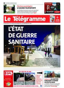 Le Télégramme Concarneau – 17 mars 2020