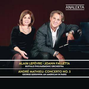 JoAnn Falletta & Alain Lefèvre - Mathieu: Concerto No. 3 / Gershwin: An American in Paris (2017) [24/96]