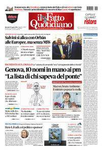 Il Fatto Quotidiano - 29 agosto 2018