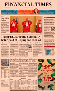 Financial Times Europe – 31 July 2019