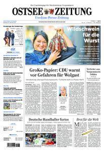 Ostsee Zeitung Wolgast - 15. Januar 2018