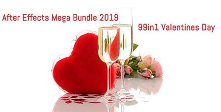 99 in1 Valentines Day After Effects Mega Bundle 2019
