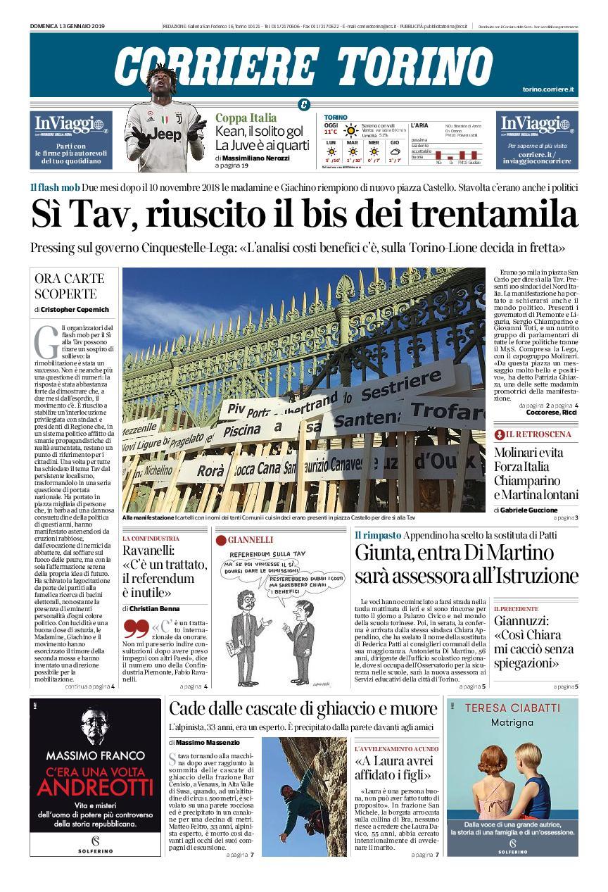 Corriere Torino – 13 gennaio 2019