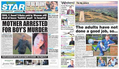 Shropshire Star Shrewsbury Edition – September 23, 2017