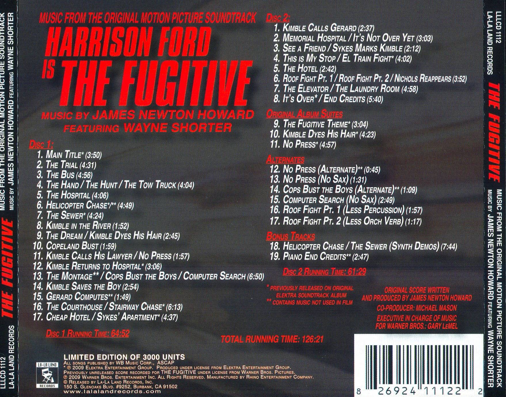 James Newton Howard The Fugitive Music From The
