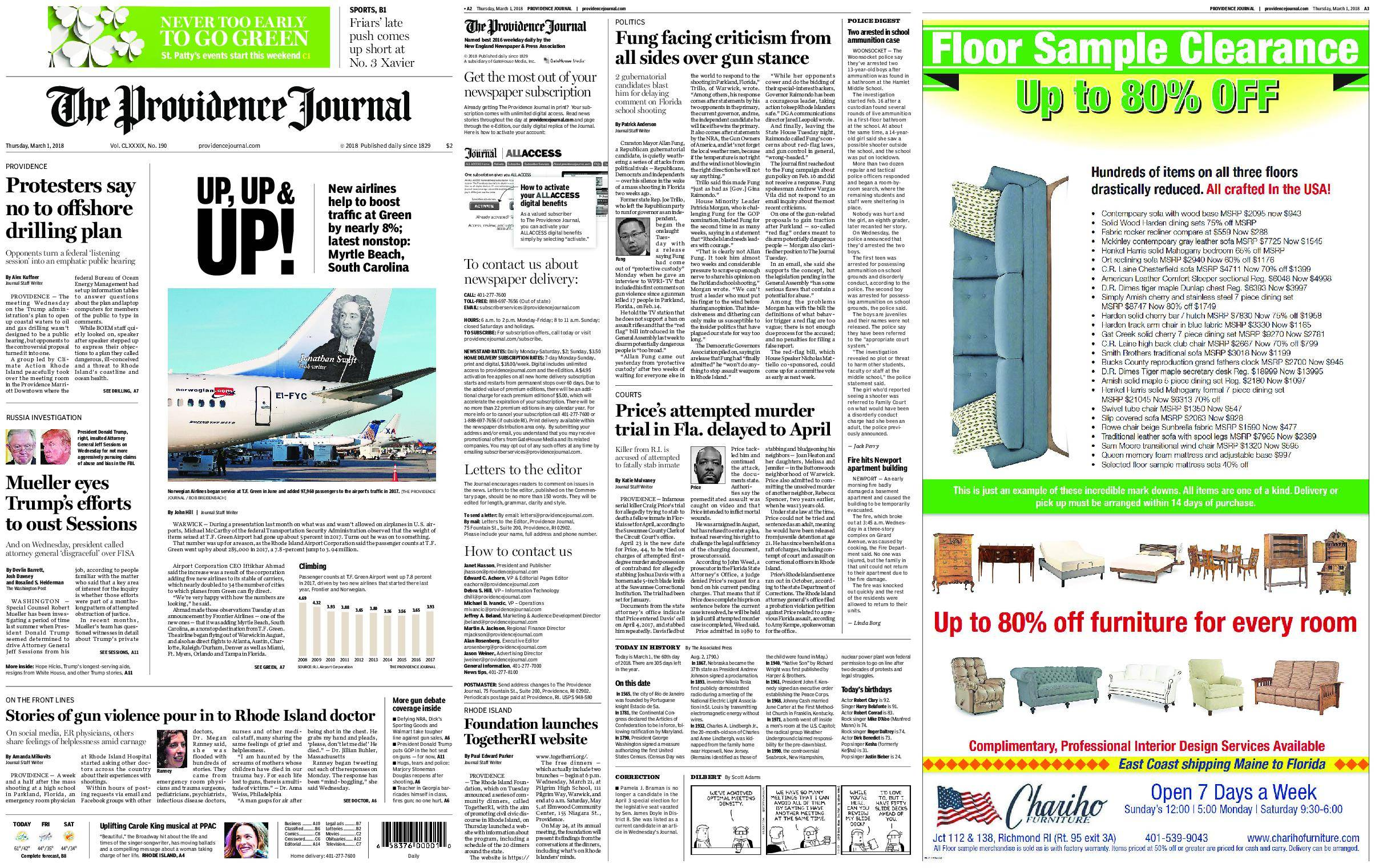 The Providence Journal – March 01, 2018 / AvaxHome