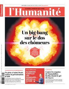 L'Humanite du Mercredi 19 Juin 2019