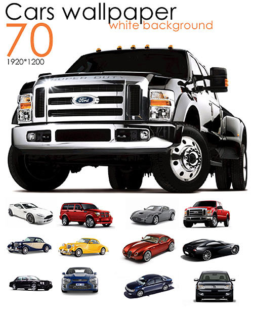 Wallpapers - Cars on white background