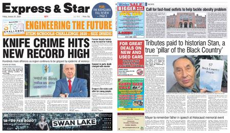 Express and Star City Edition – January 24, 2020