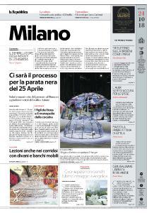 la Repubblica Milano - 24 Ottobre 2018