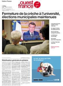 Ouest-France Édition France – 13 mars 2020