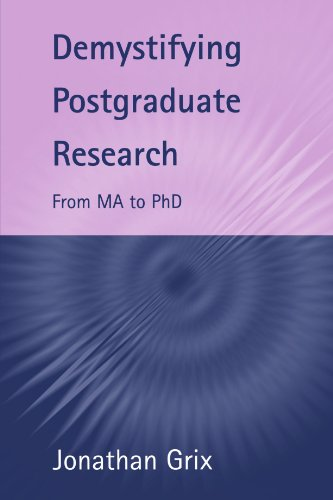Demystifying Postgraduate Research: From MA to PhD