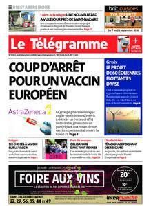 Le Télégramme Brest Abers Iroise – 10 septembre 2020