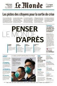 Le Monde du Dimanche 12 et Mardi 14 Avril 2020