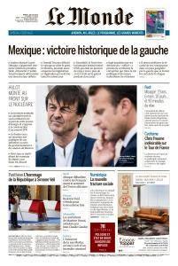 Le Monde du Mardi 3 Juillet 2018