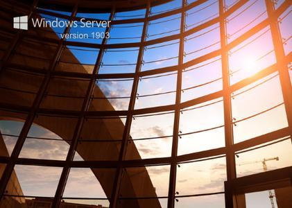 Windows Server version 1903 build 18362.418