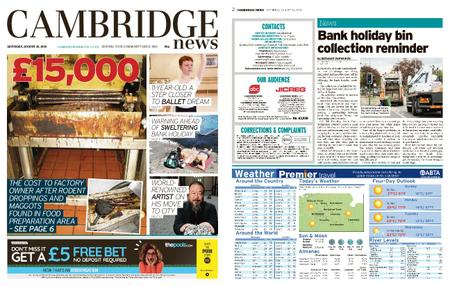 Cambridge News – August 24, 2019