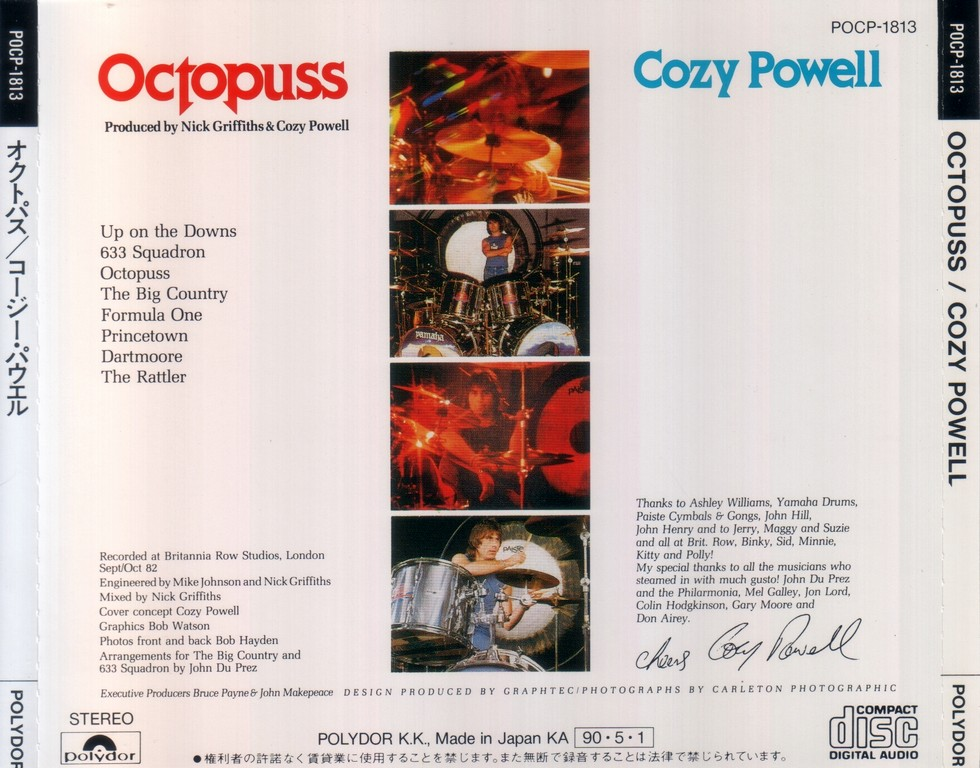 Cozy Powell - Octopuss (1983) {1990, Japan 1st Press} Repost / New Rip