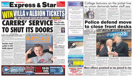 Express and Star Sandwell Edition – January 30, 2019