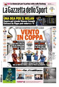 La Gazzetta dello Sport Roma – 18 dicembre 2018